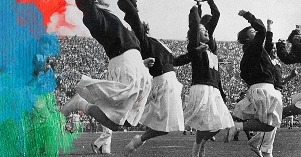 Foto: UW Digital Collections (1956) Early women cheerleaders at UW Madison, USA. Bewerkt door MooieMensapp 07-07-2017.