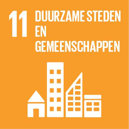 SDG 11 Duurzame steden en gemeenschappen. Bewerkt door MooierMens.app, 09-08-2021. https://www.sdgnederland.nl